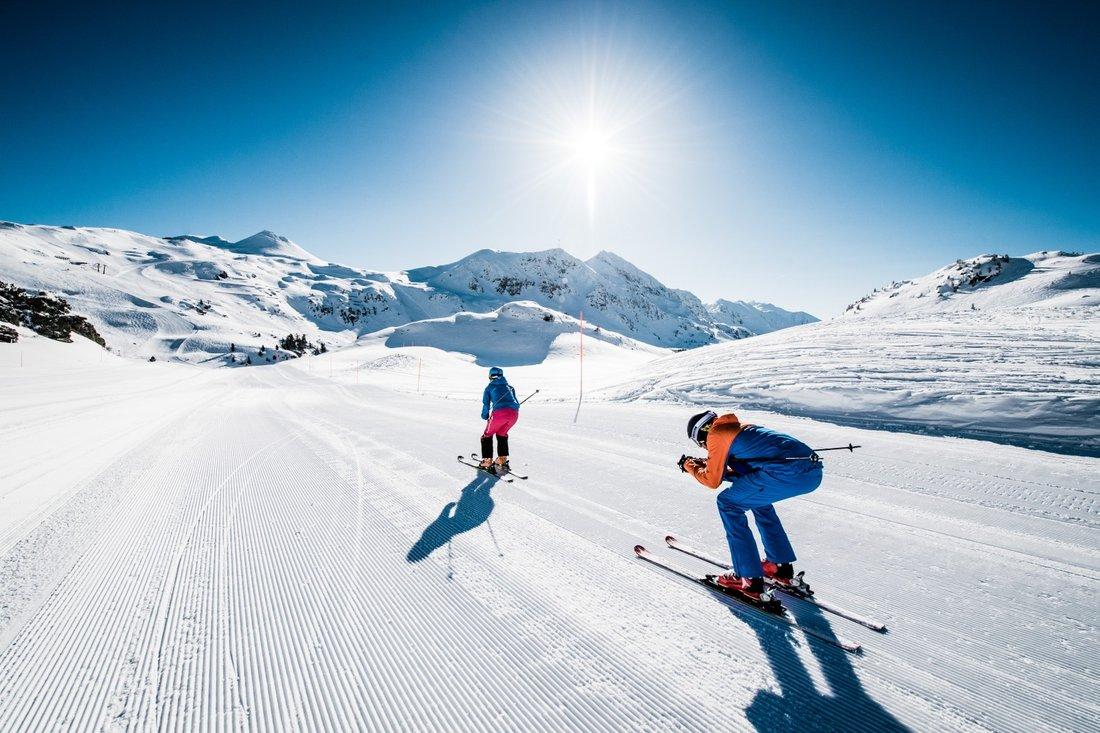 Guten Morgen Obertauern Skifahren Früh Morgens